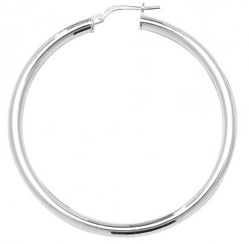 Sterling Silver 3MM Thick 48MM Hoop Earrings