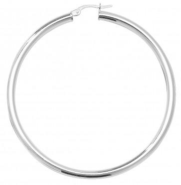 Sterling Silver 3MM Thick 58MM Hoop Earrings