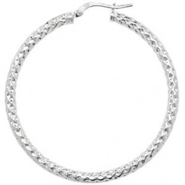 Sterling Silver 45MM Hoop Earrings