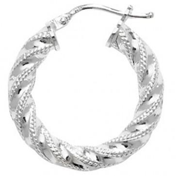Sterling Silver 22MM Hoop Earrings