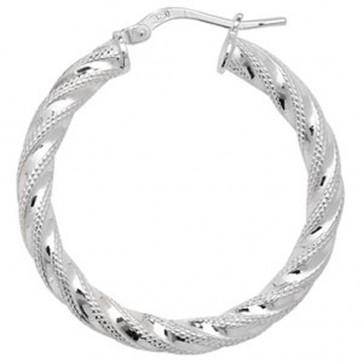 Sterling Silver 32MM Hoop Earrings