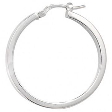 Sterling Silver 30MM Plain Hoop Earrings