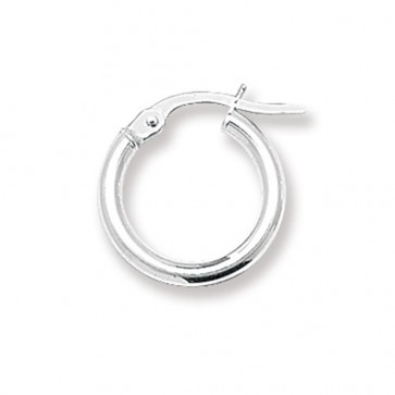 Sterling Silver 2MM Thick 15MM Hoop Earrings