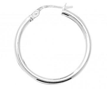 Sterling Silver 2MM Thick 25MM Hoop Earrings
