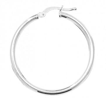Sterling Silver 2MM Thick 30MM Hoop Earrings