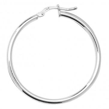 Sterling Silver 2MM Thick 35MM Hoop Earrings