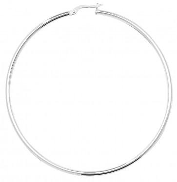 Sterling Silver 2MM Thick 70MM Hoop Earrings