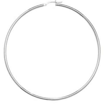 Sterling Silver 2MM Thick 75MM Hoop Earrings