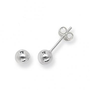 Sterling Silver 5MM Ball Stud Earrings