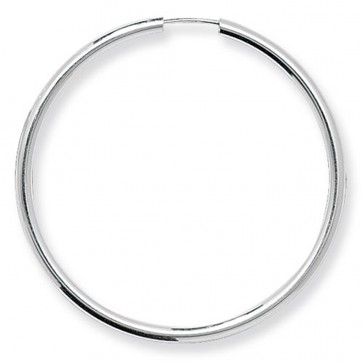 Sterling Silver 40MM Sleeper Earrings