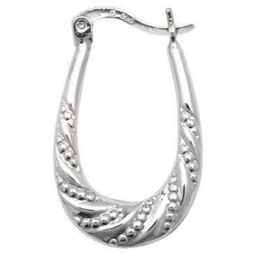 Sterling Silver Creole Earrings