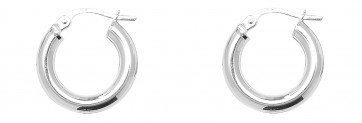 Sterling Silver 16MM Plain Hoop Earrings