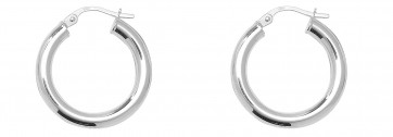 Sterling Silver 21MM Plain Hoop Earrings