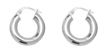 Sterling Silver 18MM Plain Hoop Earrings