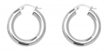 Sterling Silver 23MM Plain Hoop Earrings