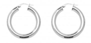 Sterling Silver 28MM Plain Hoop Earrings