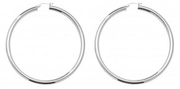 Sterling Silver 70MM Plain Hoop Earrings