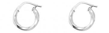 Sterling Silver 14MM Twisted Hoop Earrings