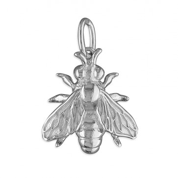 Sterling Silver Honey Bee Pendant On A Snake Necklace