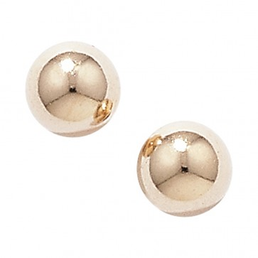 9ct Gold 4MM Ball Stud Earrings