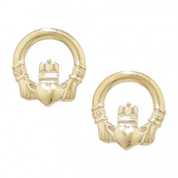 9ct Gold Claddagh Earrings