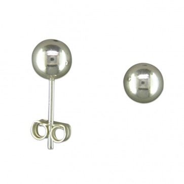Sterling Silver 6MM Ball Stud Earrings