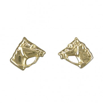 9ct Gold Horse Head Stud Earrings