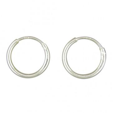 Sterling Silver 12MM Hoop Earrings