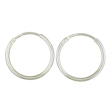 Sterling Silver 18MM Hoop Earrings