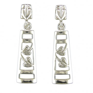 Sterling Silver Rennie Mackintosh Style Drop Earrings