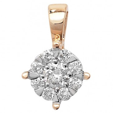 9ct Gold 0.25ct Diamond Pendant On A Belcher Necklace