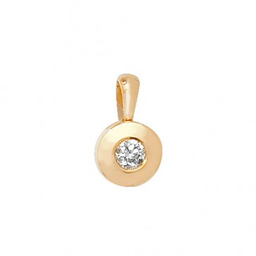 Children's 9ct Gold 0.1ct Rubover Diamond Pendant On A Prince of Wales Necklace