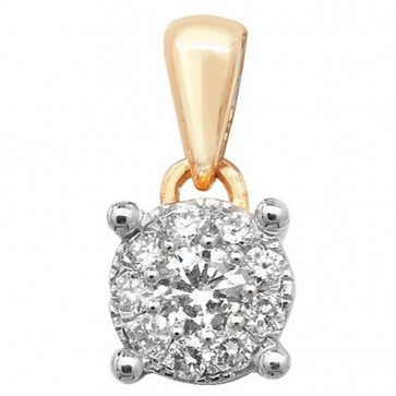Children's 9ct Gold 0.15ct Diamond Pendant On A Prince of Wales Necklace