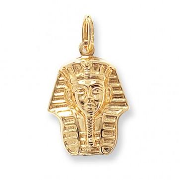 9ct Gold Tutankhamun Pendant On A Belcher Necklace