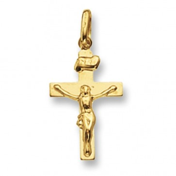 Children's 9ct Gold Crucifix Pendant On A Prince of Wales Necklace