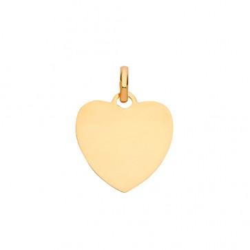 9ct Gold Solid Plain Heart Pendant On A Belcher Necklace