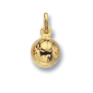 9ct Gold Football Pendant On A Belcher Necklace
