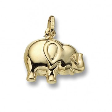 Children's 9ct Gold Elephant Pendant On A Prince of Wales Necklace