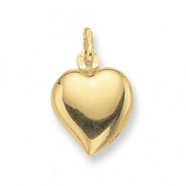 Men's 9ct Gold Heart Pendant On A Curb Necklace