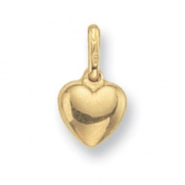 Children's 9ct Gold Heart Pendant On A Prince of Wales Necklace