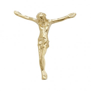 Children's 9ct Gold 25MM Jesus Pendant On A Prince of Wales Necklace