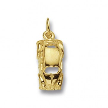 9ct Gold Beetle Car Pendant On A Belcher Necklace