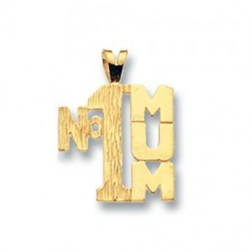 9ct Gold Number 1 Mum Pendant On A Belcher Necklace