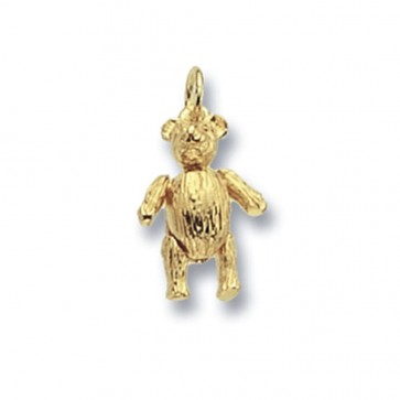 9ct Gold Teddy Bear Pendant On A Belcher Necklace