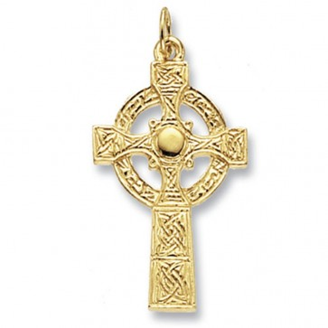 9ct Gold Maltese Cross Pendant On A Belcher Necklace