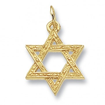 Children's 9ct Gold Star Of David Pendant On A Prince of Wales Necklace