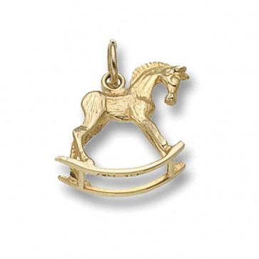 Children's 9ct Gold Rocking Horse Pendant On A Prince of Wales Necklace