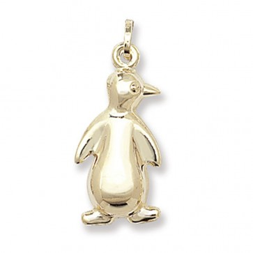Children's 9ct Gold Penguin Pendant On A Prince of Wales Necklace