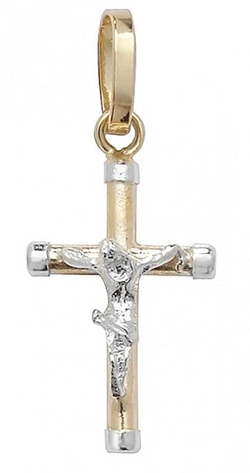 9ct Gold Crucifix Pendant On A Belcher Necklace