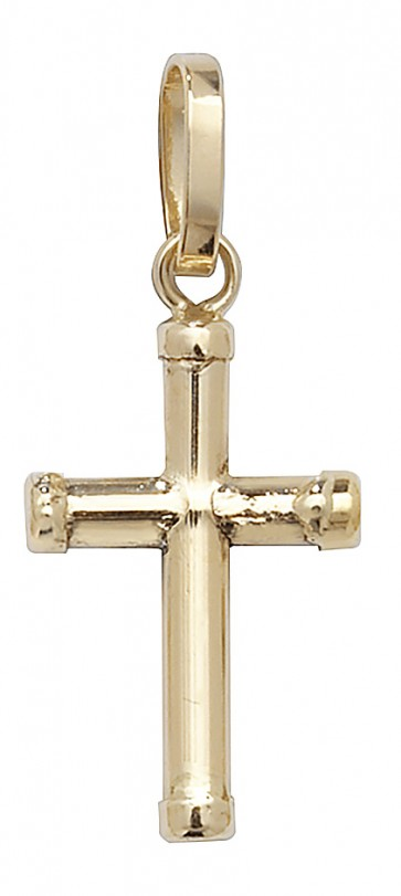 Children's 9ct Gold Cross Pendant On A Prince of Wales Necklace